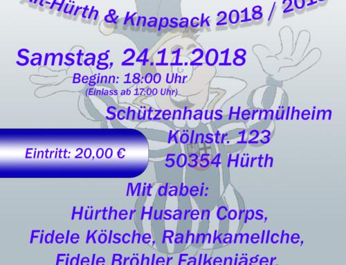 Proklamation Prinz Theo I. am 24.11.2018 im Schützenhaus
