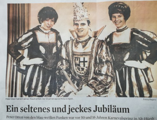 Goldenes Prinzenjubiläum. Peter Otten, vor 50 Jahren Prinz in Alt Hürth